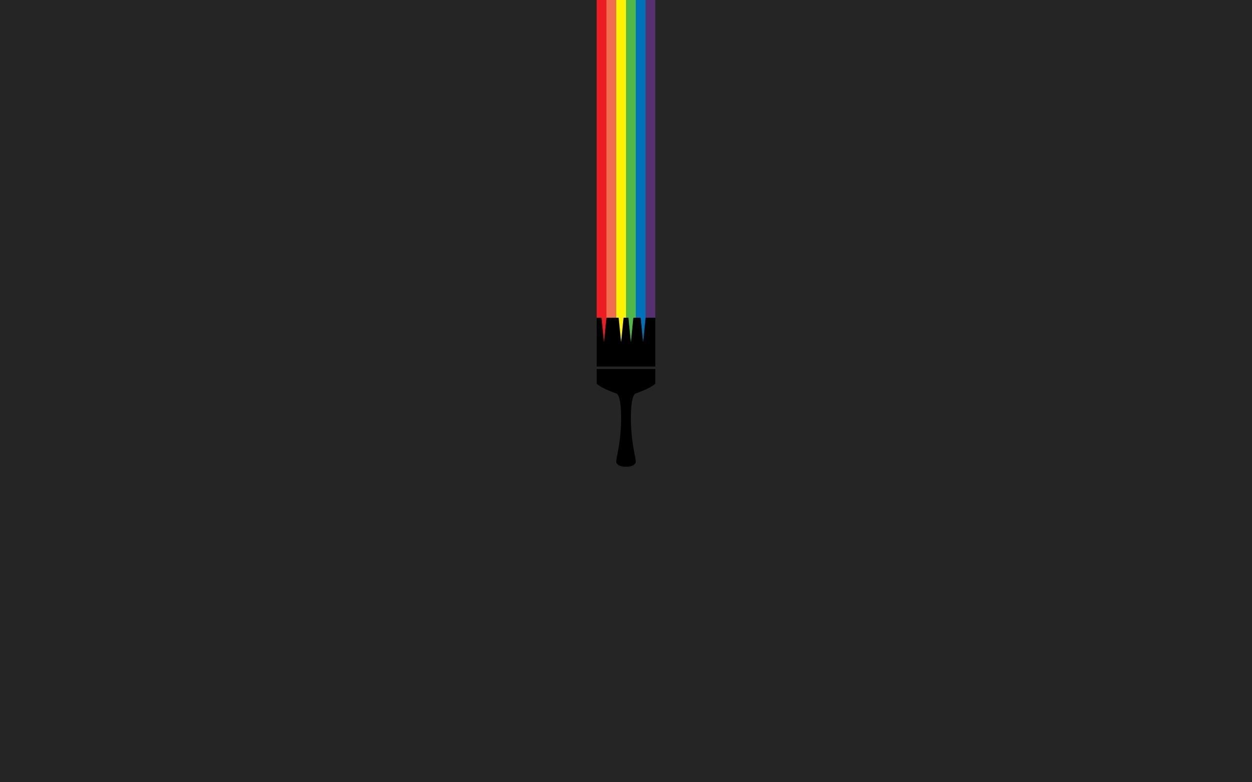 Minimalistic Gray Wallpaper 2560x1600 Minimalistic Gray Rainbows 2560x1600