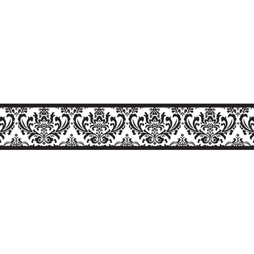 JoJo Designs Isabella Wallpaper Border in Black White Border 500x500