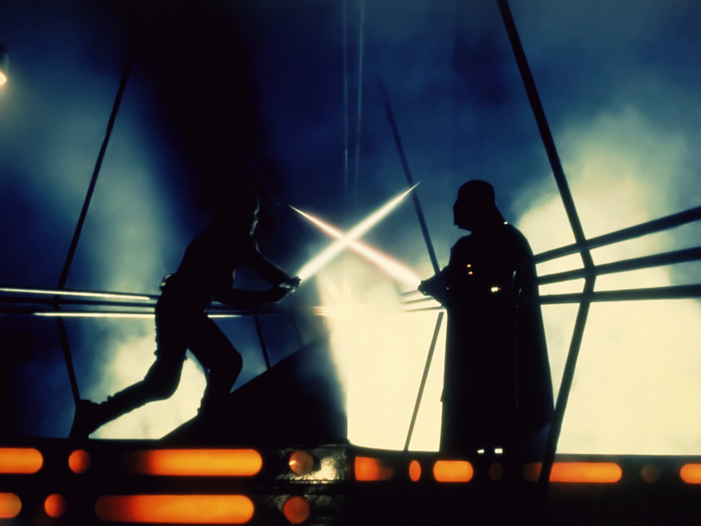 luke skywalker vs darth vader desktop pc and mac wallpaper 1024 x 768 1024x768