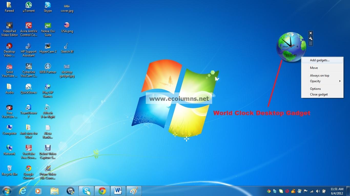 Analog Desktop Clock