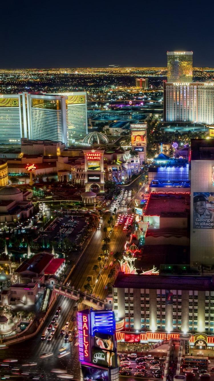 Las Vegas Strip North Side iPhone 6 Wallpaper HD   Download 750x1334