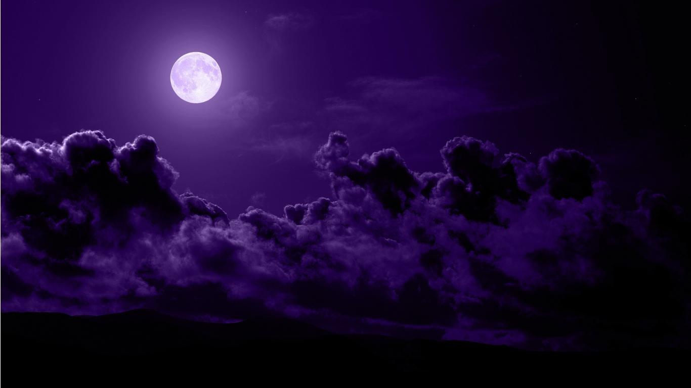 Purple Moon Wallpaper 3852 Hd Wallpapers in Space   Imagescicom 1366x768