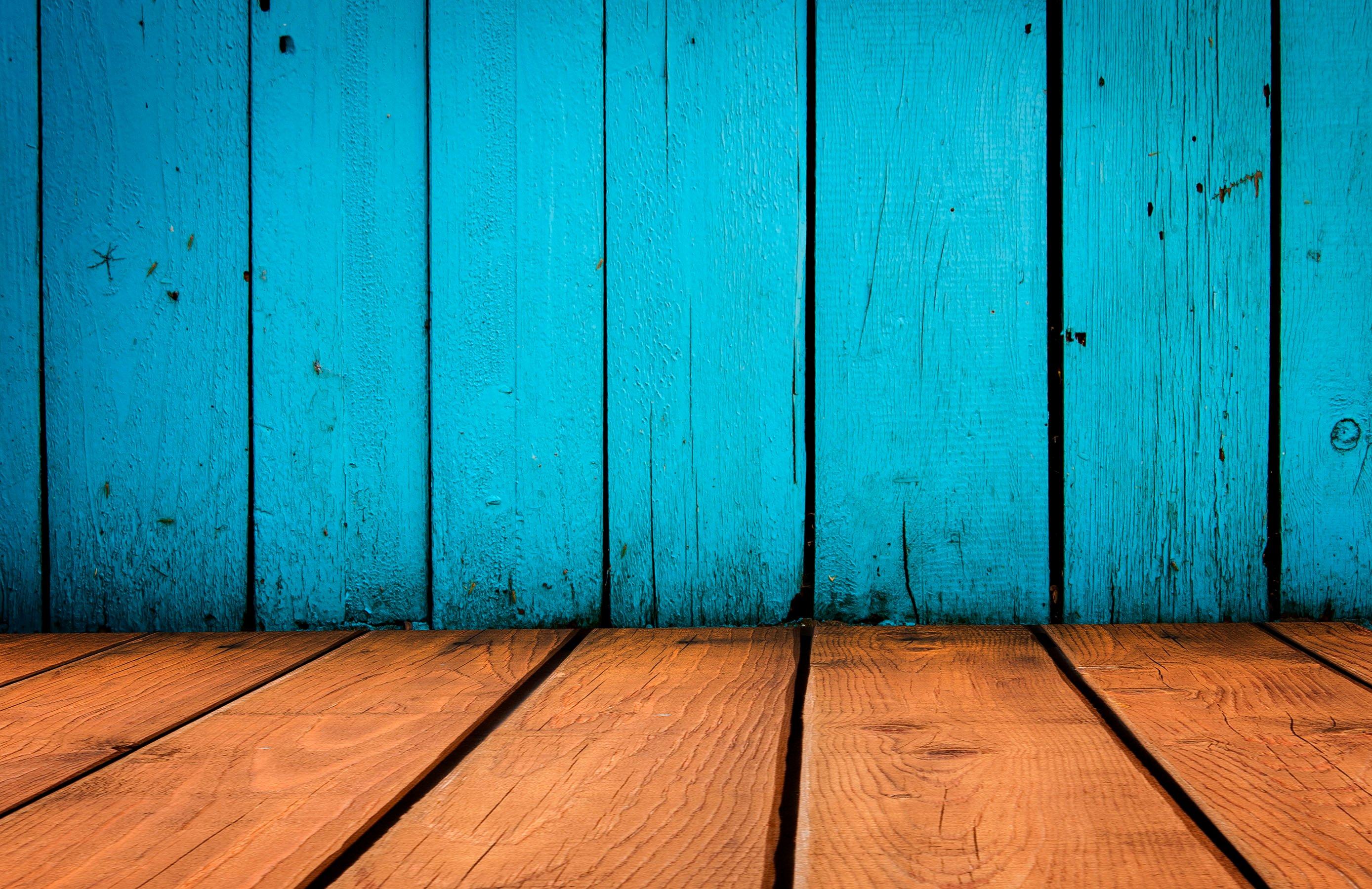 Wall Mural Photo Blue Wood Wallpaper Wallpapersafari
