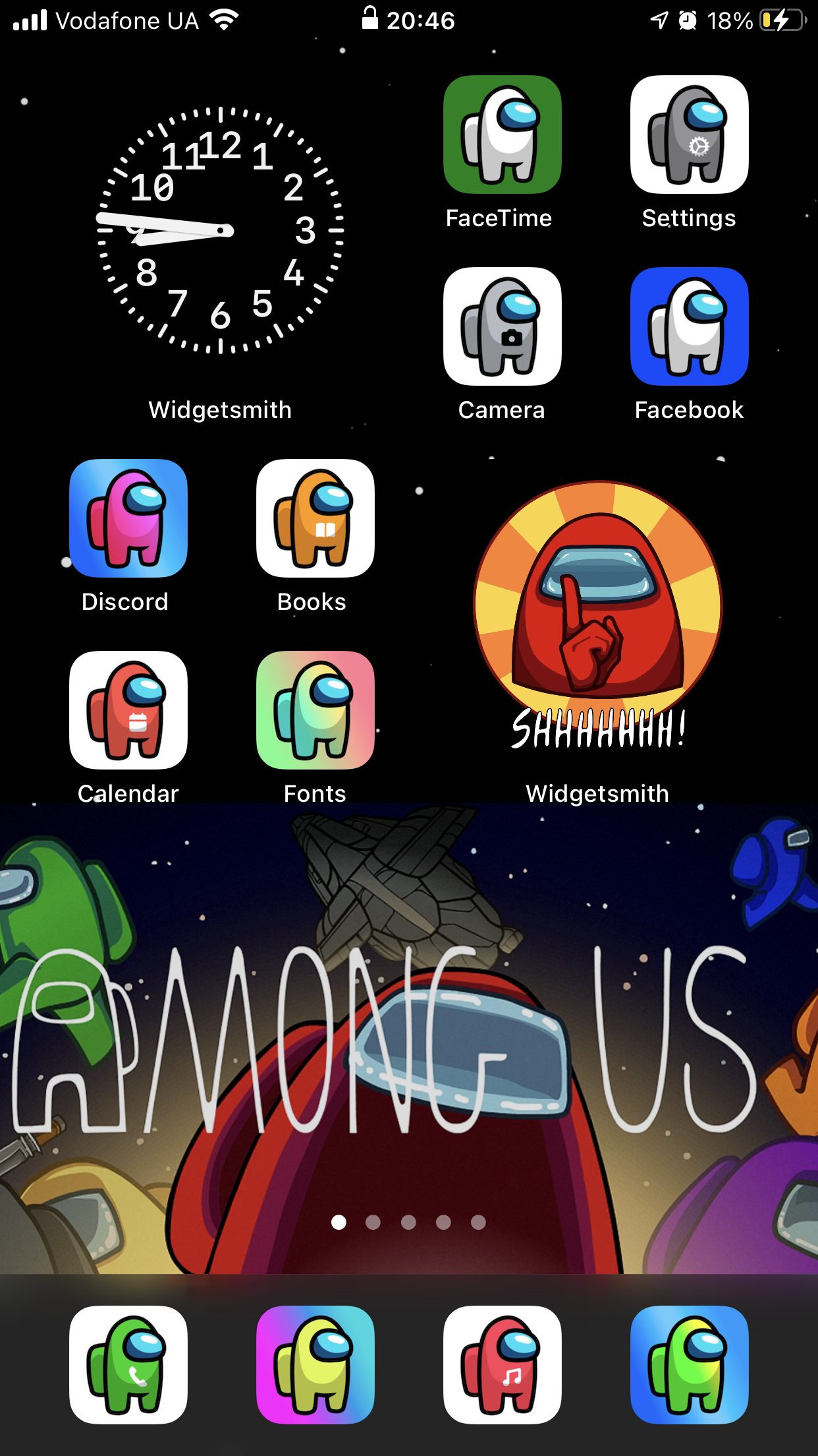 Among Us iOS 14 App Icons IOS14 Among Us Aesthetic Home Screen 1242x2208