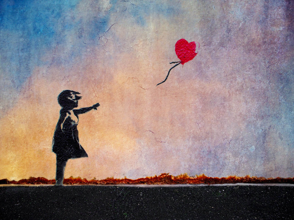Banksy Girl And Balloon By Picture Frame 1024x768