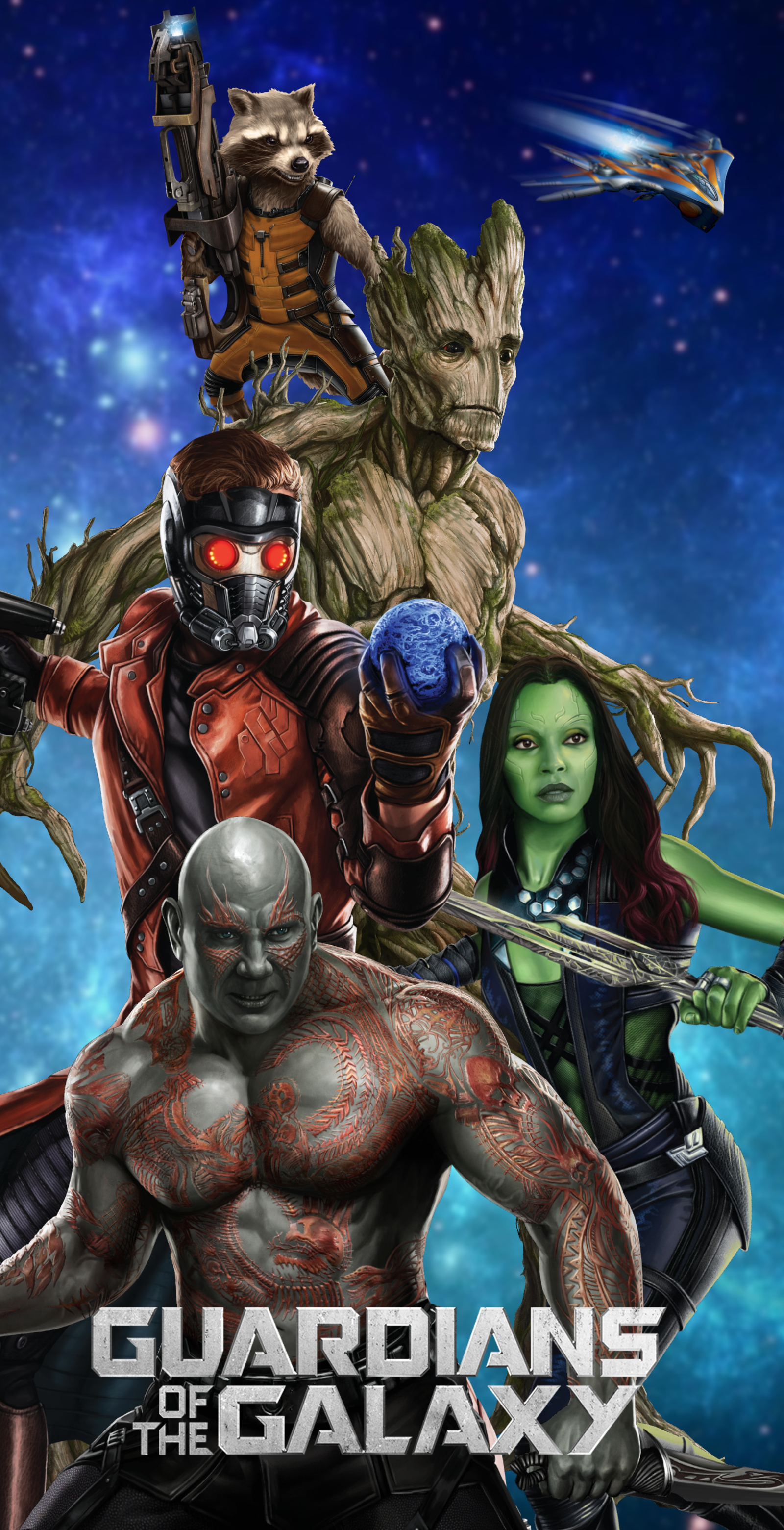Guardians of the Galaxy wallpaper by ArkhamNatic 1600x3121