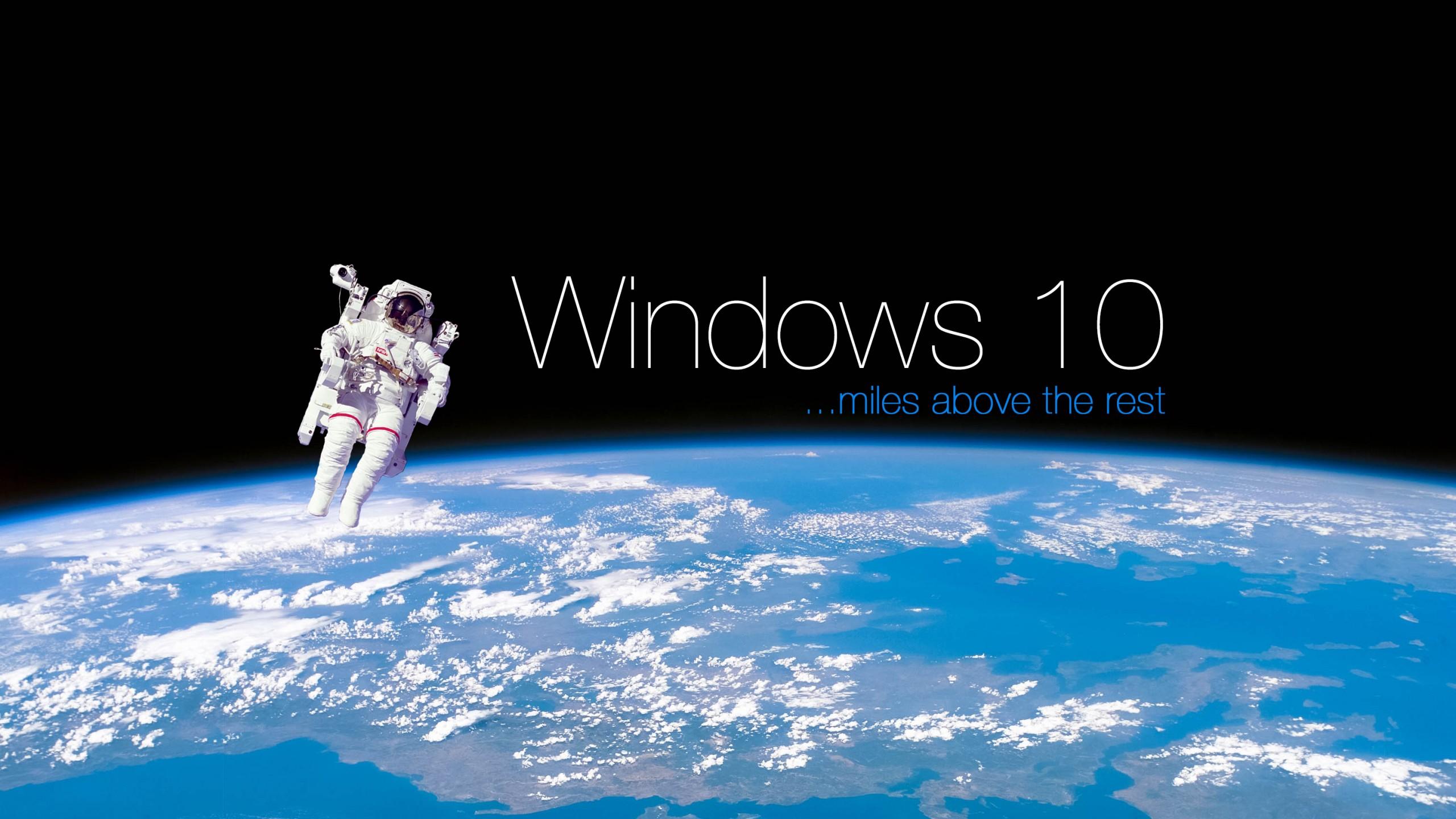 Windows 10 space 4k wallpaper 2560x1440   Wallpaper   Wallpaper Style 2560x1440