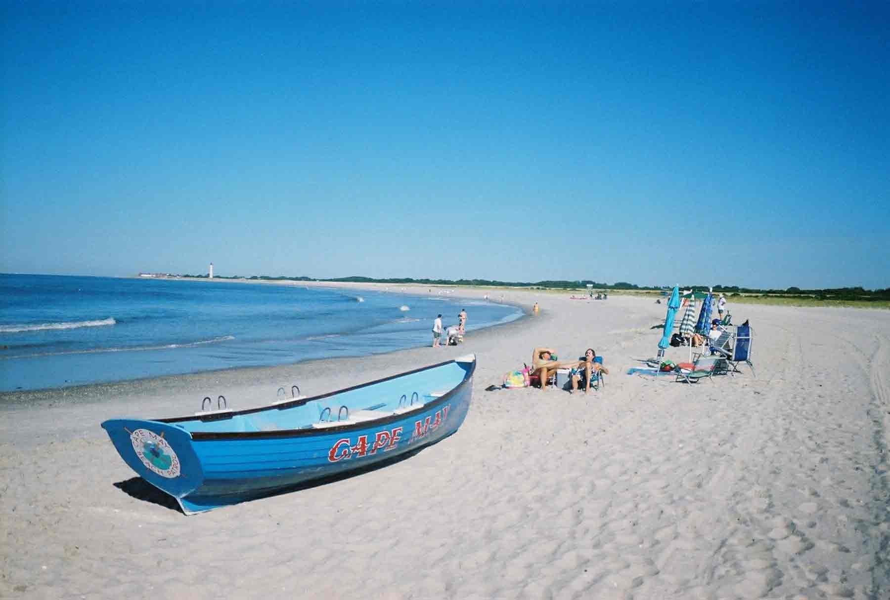 Beach of Cape May in City New Jersey
