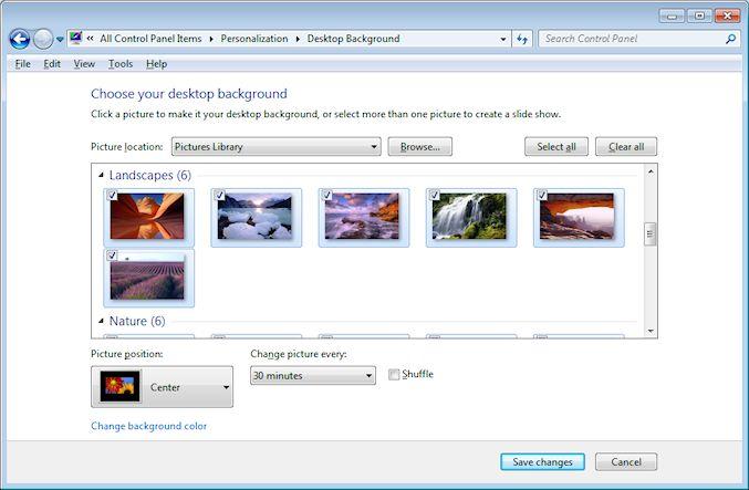 Change the desktop background wallpaper on Windows 677x443