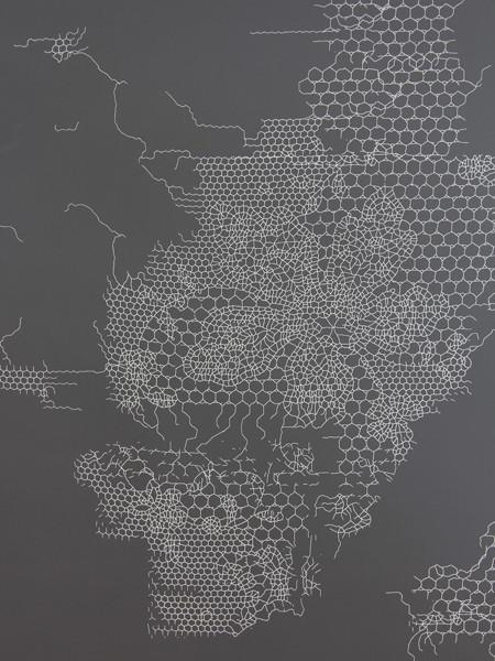 Peeling Lace wallpaper dark gray store la   Tracy Wilkinson Simon 450x600