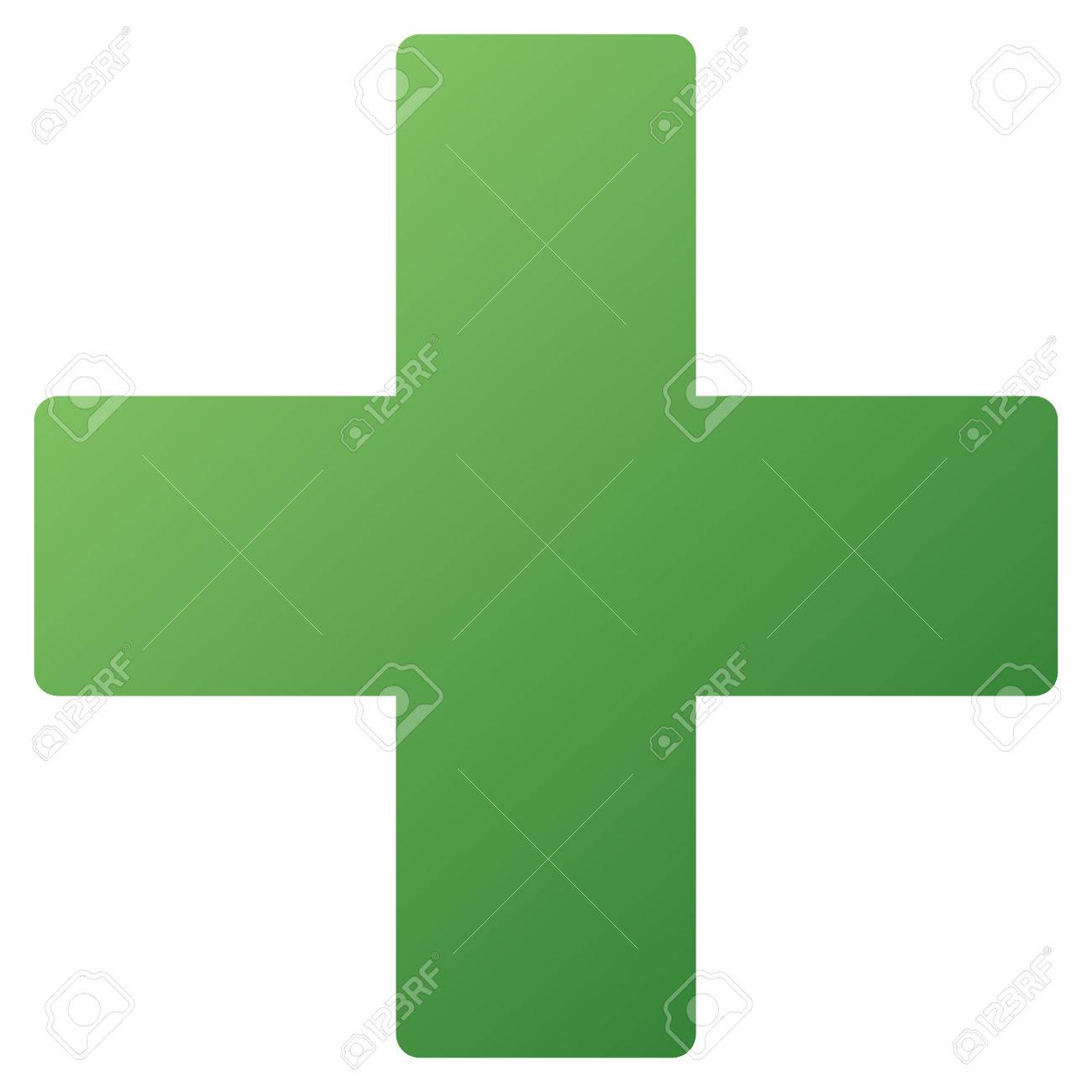 Medical Cross Vector Toolbar Icon Style Is Gradient Icon Symbol 1300x1300