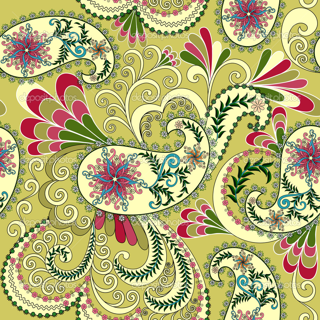 Yellow Paisley Wallpaper Wallpapersafari