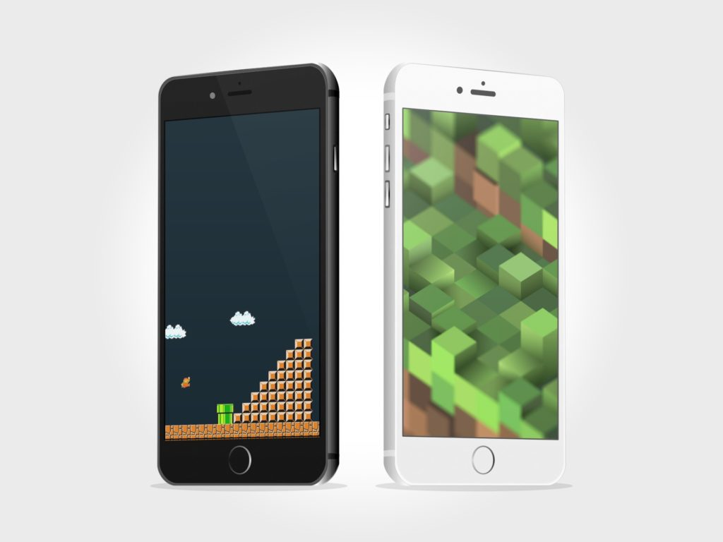 8 bit video game wallpapers for iPhone and iPad 1024x768