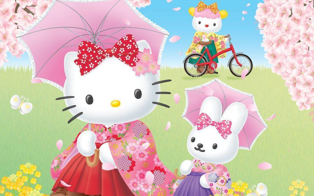 Free Download Hello Kitty And Friends Wallpapers 1280x800 For