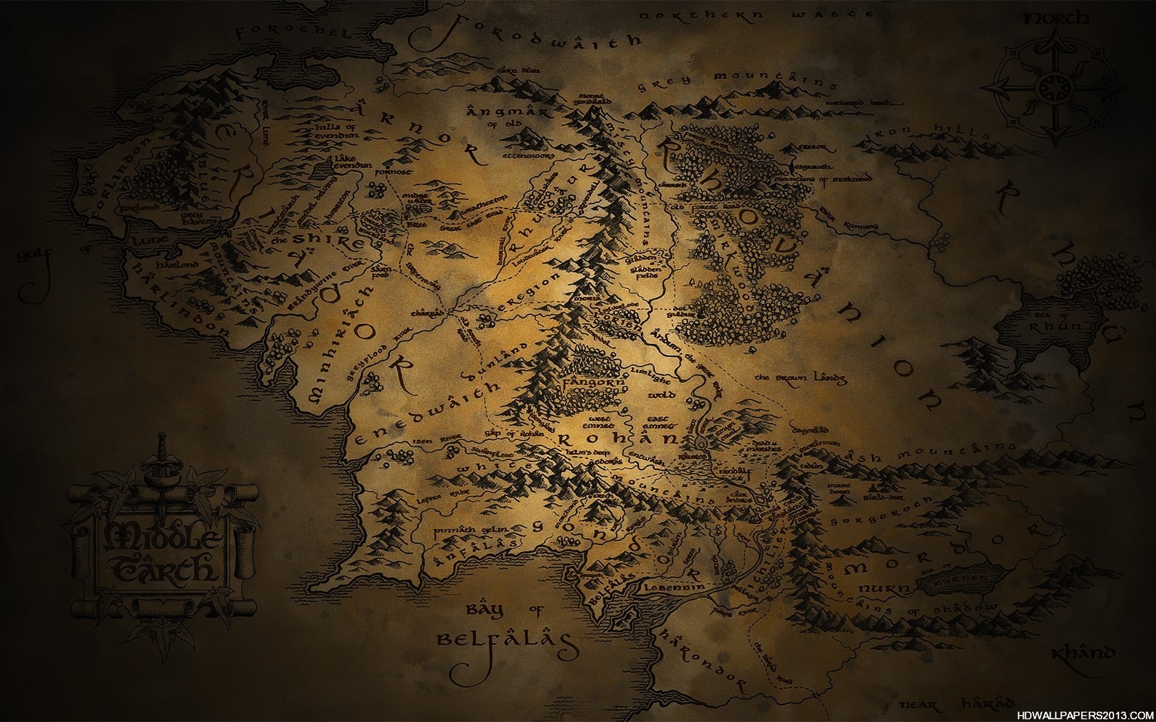 Middle Earth Map Wallpaper High Definition Wallpapers High 1680x1050