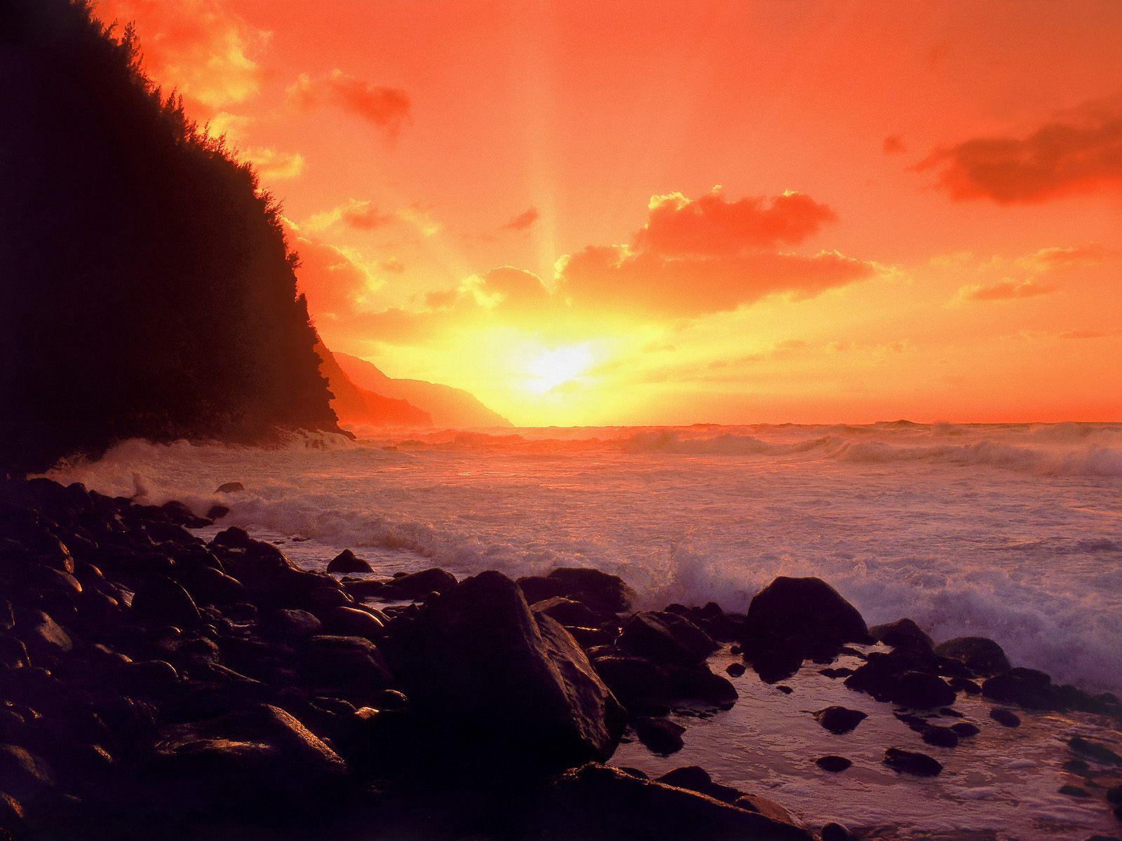 Nature Wallpapers Hawaii Sunset Wallpaper 1600x1200