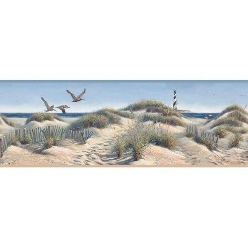 of Seashore Wallpaper Border Seaside Sea Ocean Lighthouse Beach 500x500