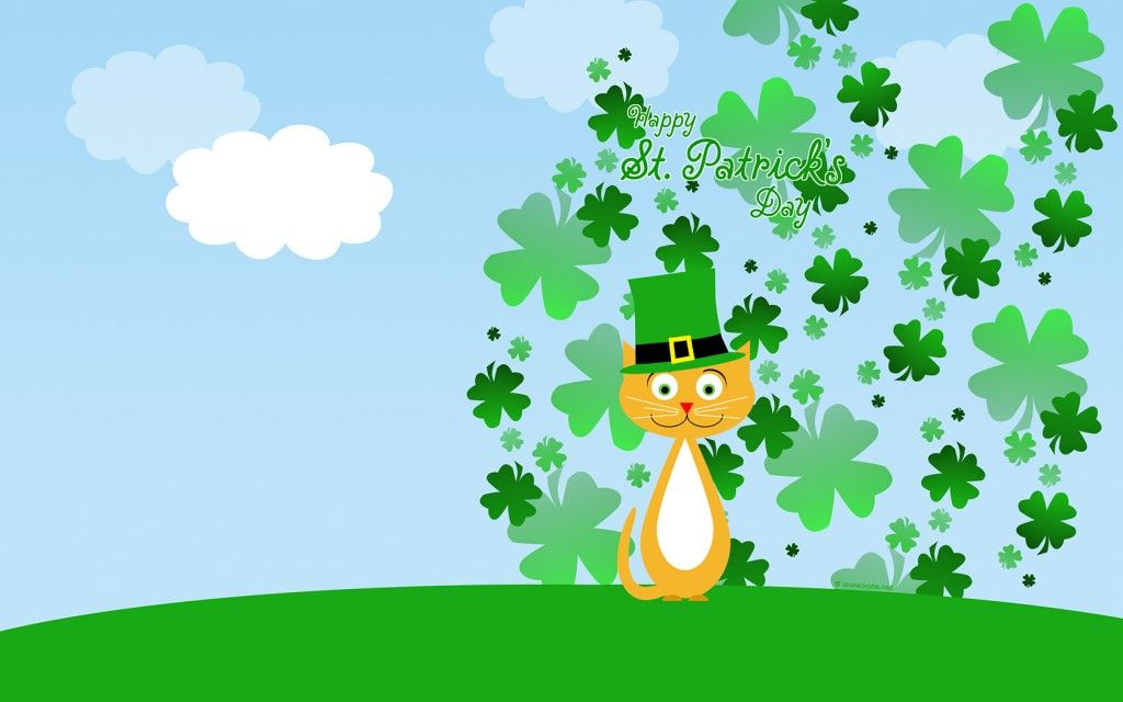 Get Lucky with Leprechaun Desktop Wallpaper for St Patricks Day 1024x640