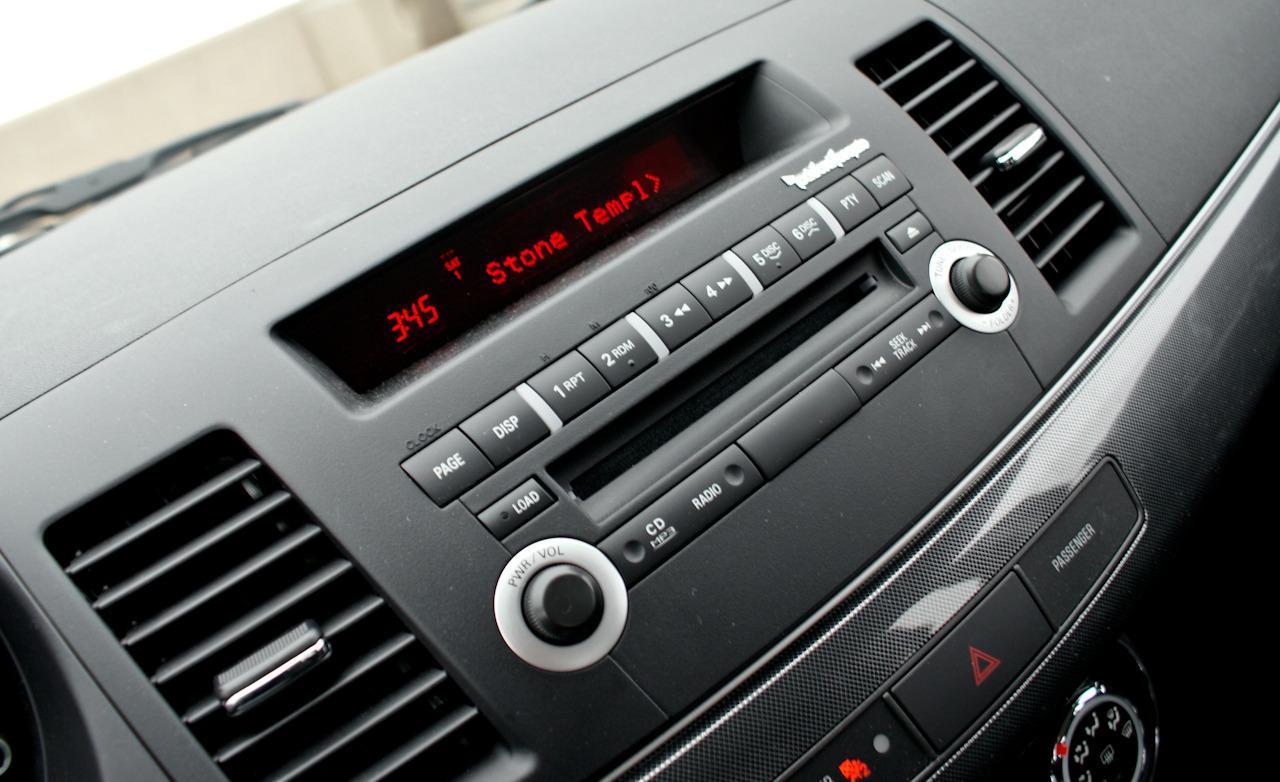 Mitsubishi Lancer Sportback Ralliart Rockford Fosgate audio system 1280x782