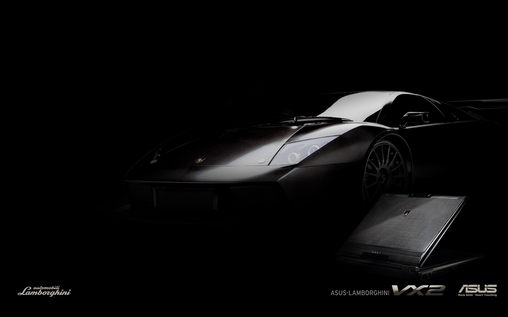 HQ Asus Lamborghini Vx2 Black Laptop Wallpaper   HQ Wallpapers 1680x1050