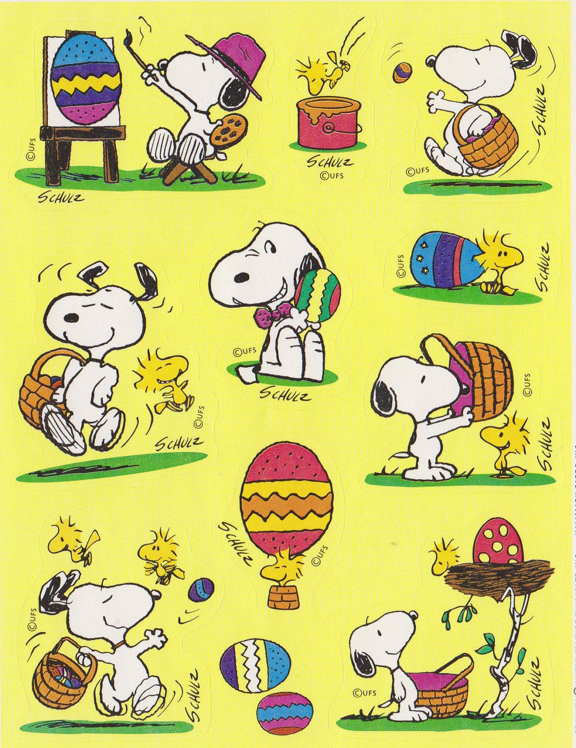 Snoopy Happy Easter Clip Art 1155x1500