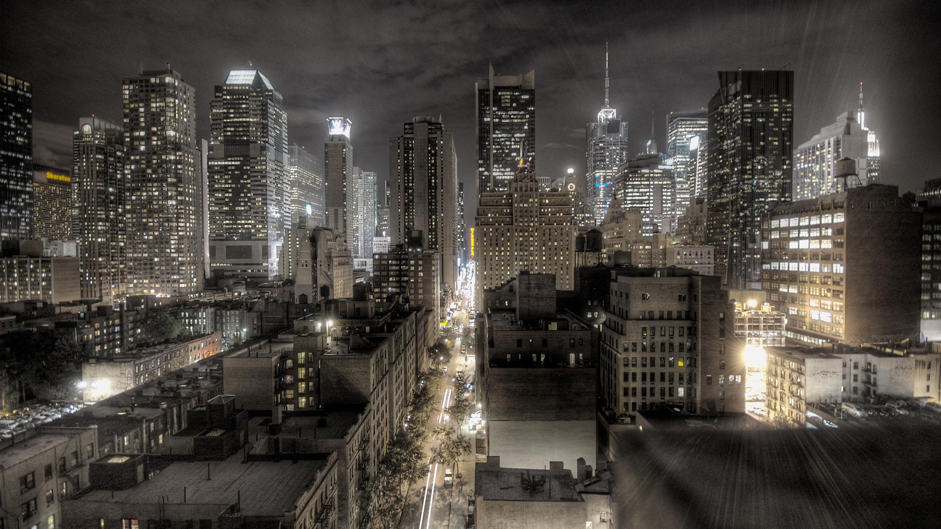 City at Night Wallpaper 1920x1080