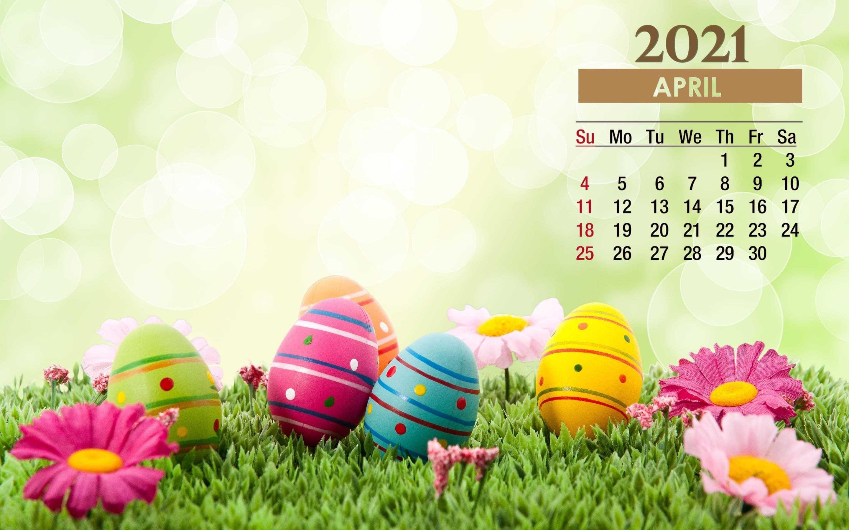 2021 Easter April Calendar Wallpaper   KoLPaPer   Awesome HD 2880x1800