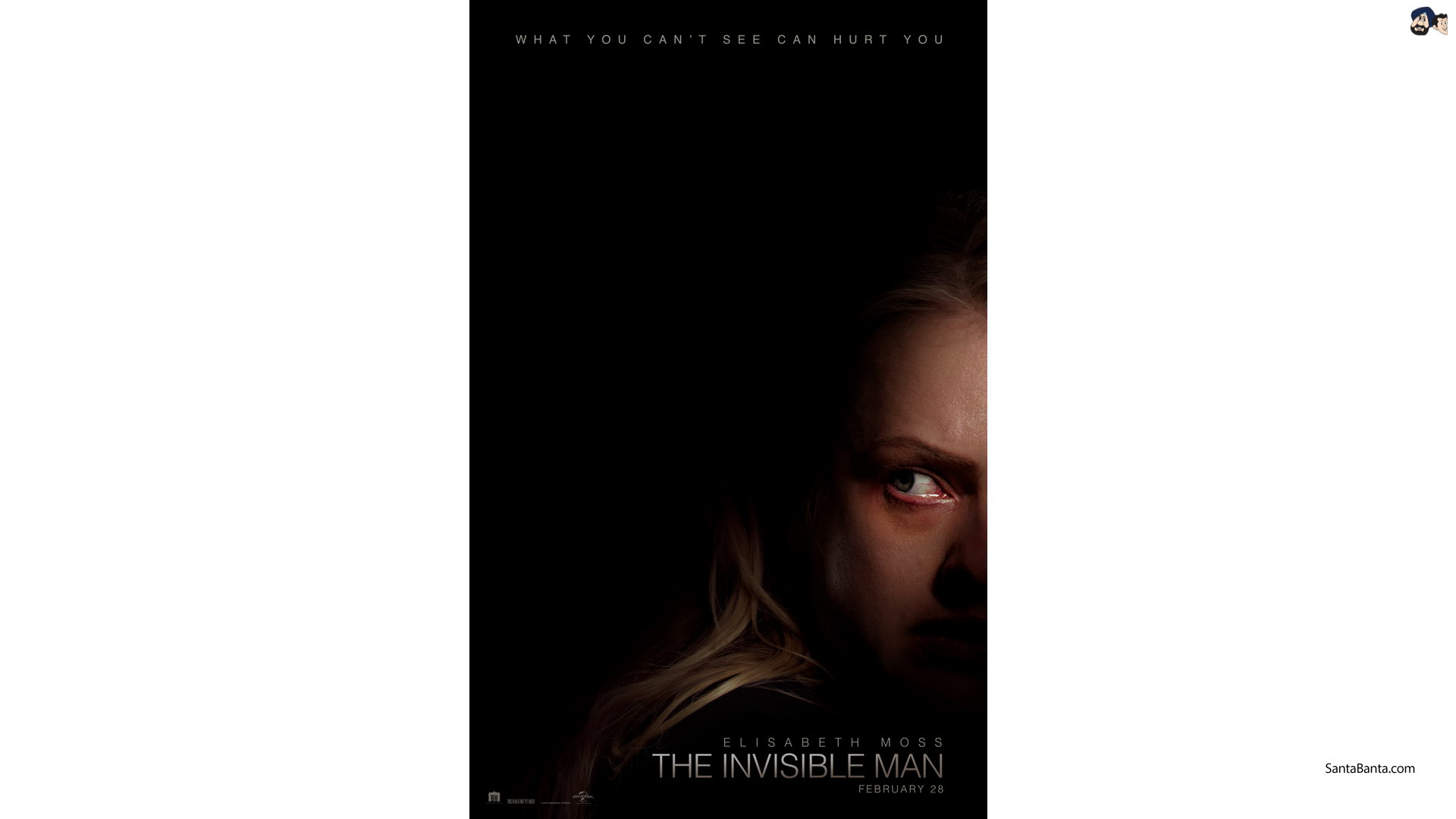 Elizabeth Moss on the poster of horror movie The Invisible Man 1920x1080