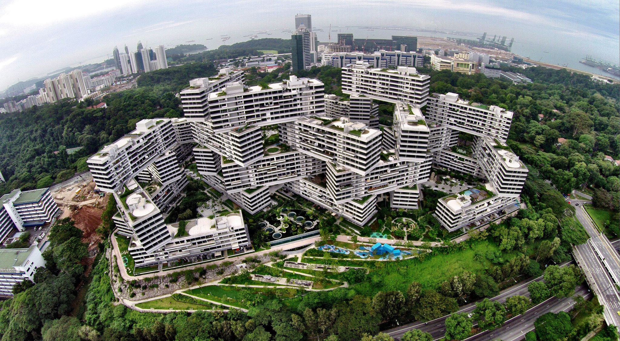 The Interlace Singapore [2048x1128] wallpaper background for 2048x1128