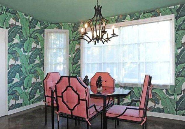 Martinique banana leaf wallpaper Breakfast room Pinterest 634x444