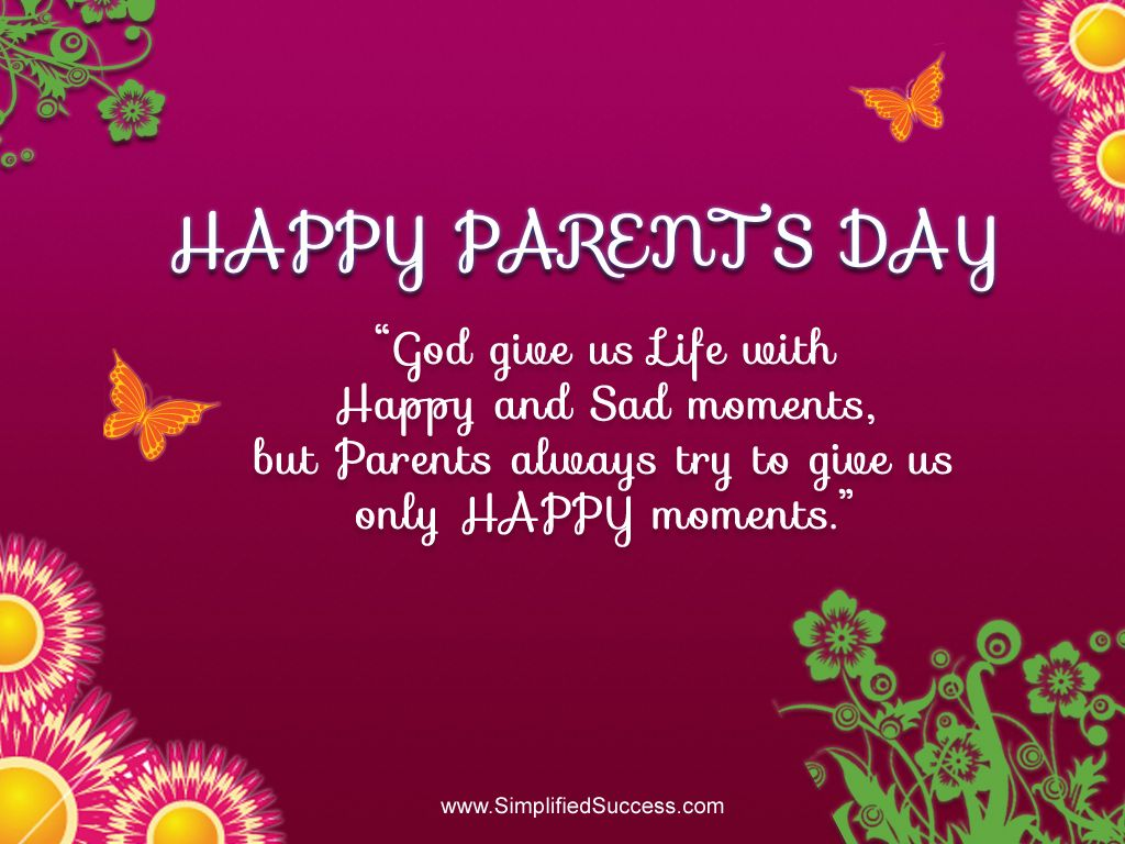 HAPPY PARENTS DAY ONLY ONE PIN TODAY Parents day quotes 1024x768