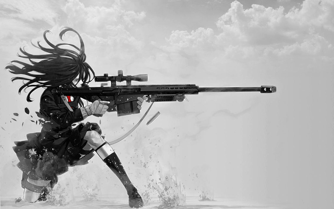 Sniper Schoolgirl Wallpaper 01 by PimplyPete 1131x707