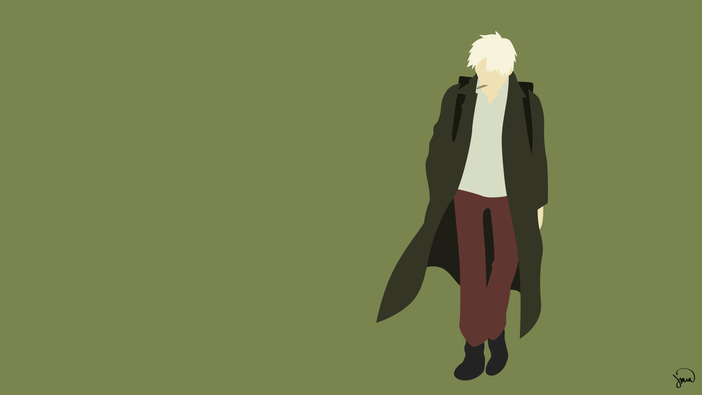 Ginko Mushishi Minimalist Wallpaper by greenmapple17 1024x576