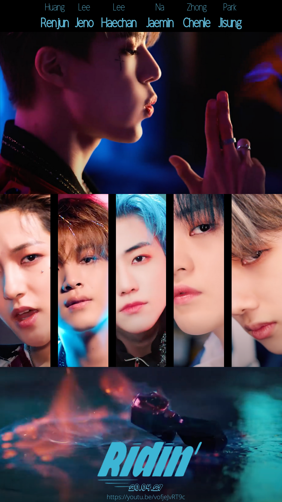 I made movie style posterswallpapers for Ridin NCT 1080x1920