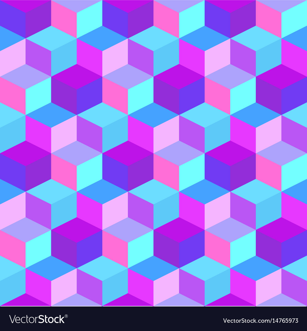 Geometric colorful cube background Royalty Vector Image 1000x1080