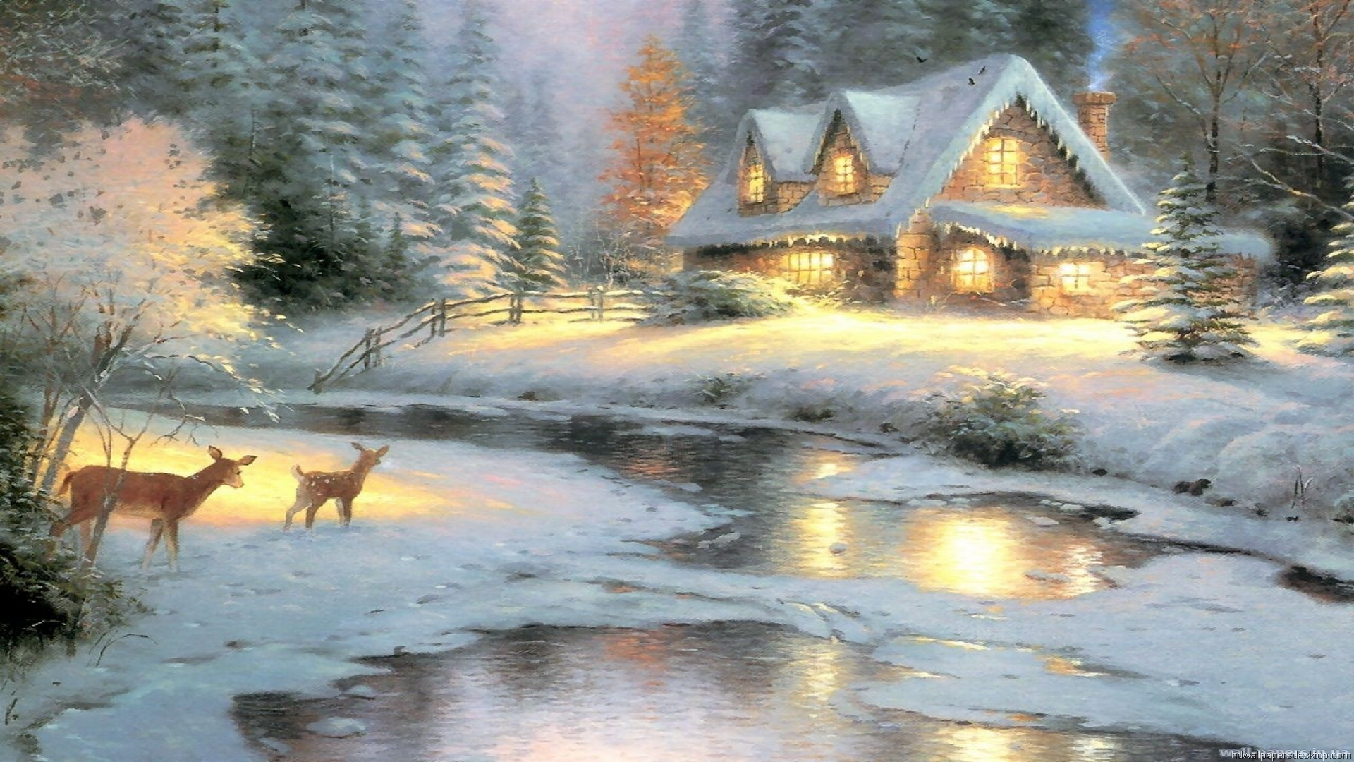 thomas kinkade wallpaper 1920x1080 - photo #6