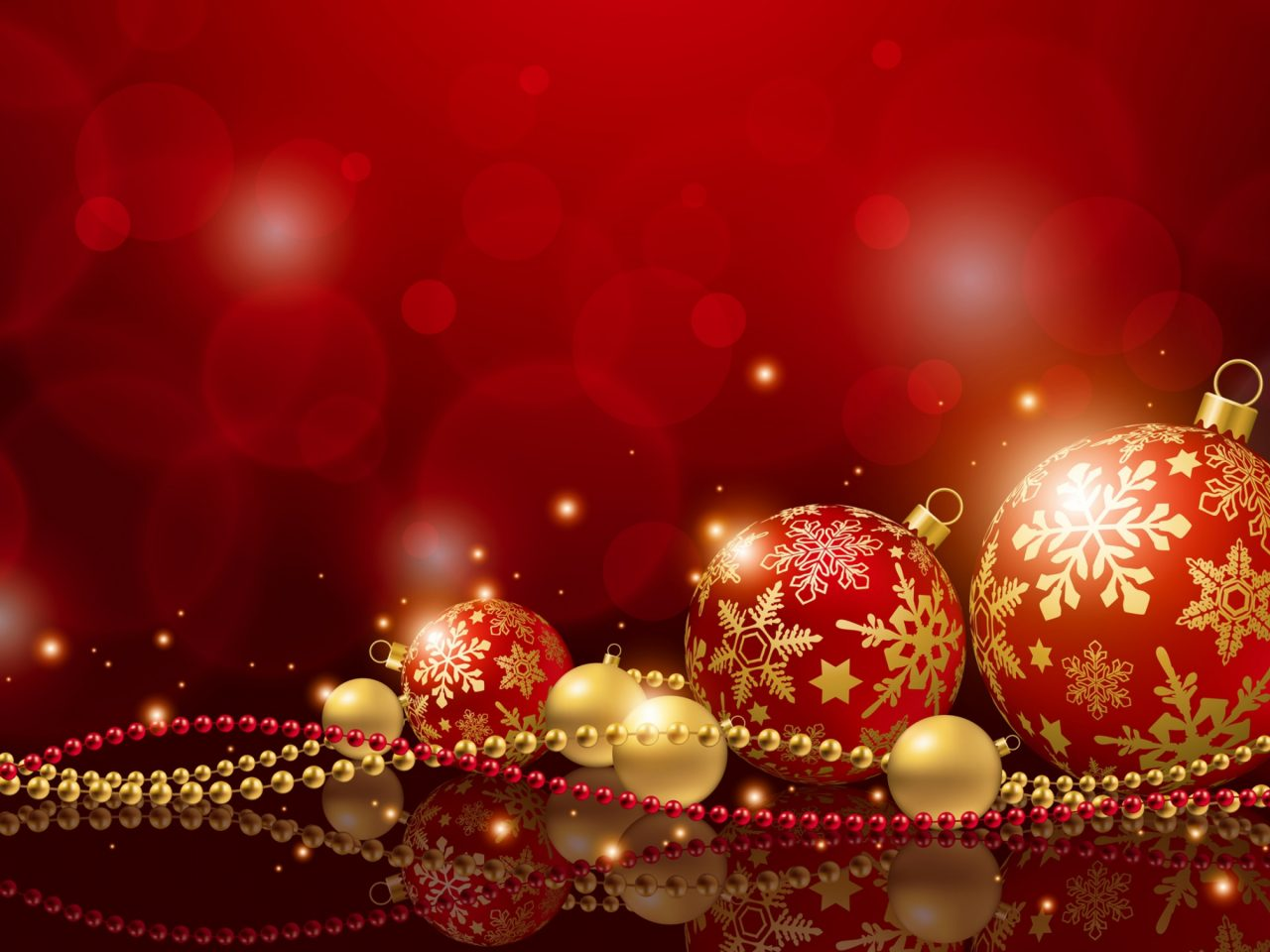New Years Decorations Christmas Holiday Balls New Year Red 1280x960