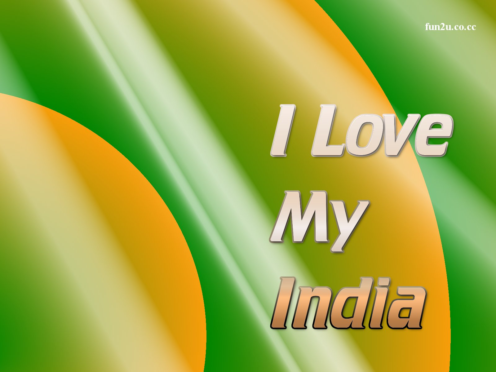 SmsQs Desktop Wallpaper I Love My India 1600x1200