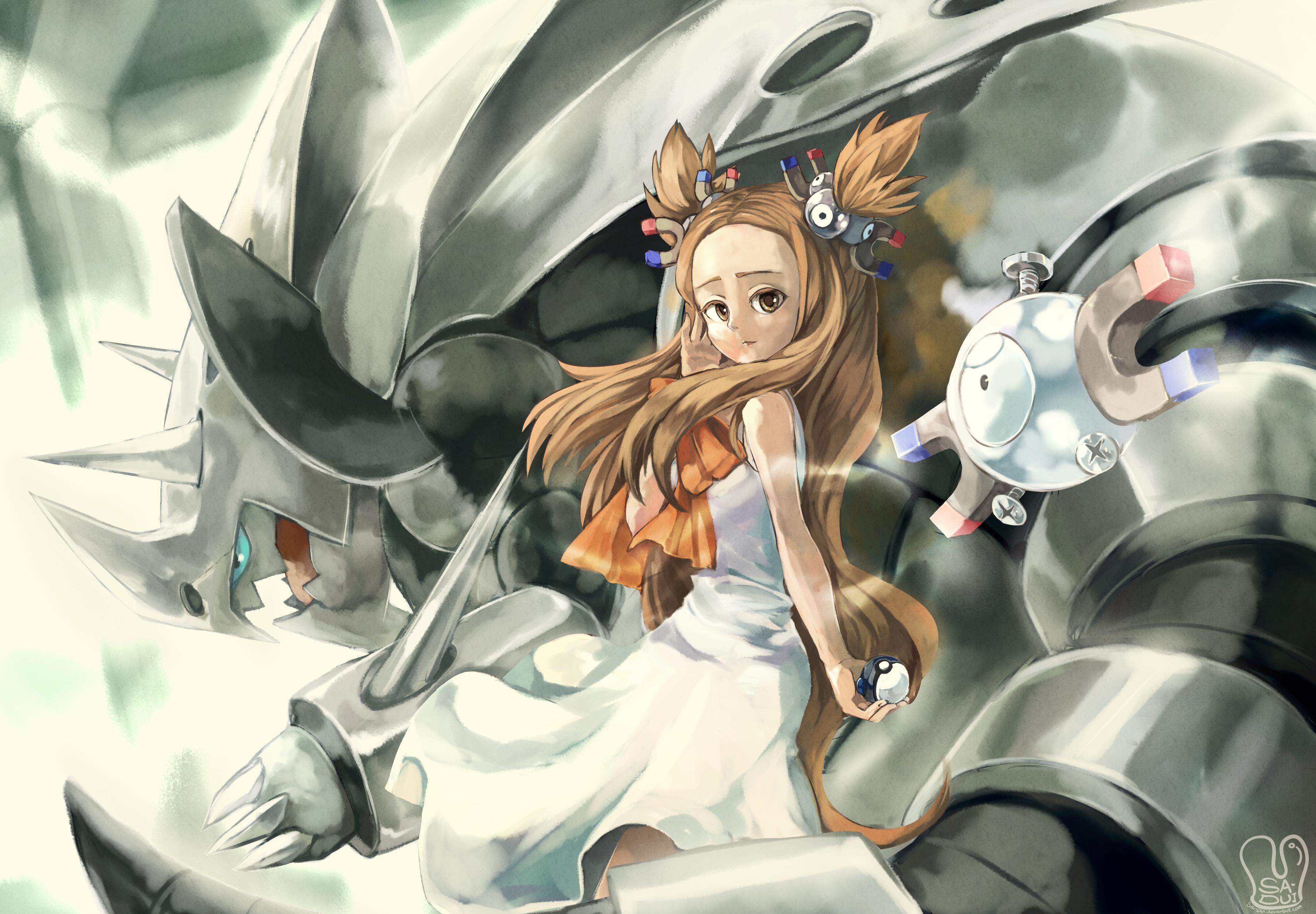 [Art] Jasmine Her Mega Aggron pokemon 3600x2500