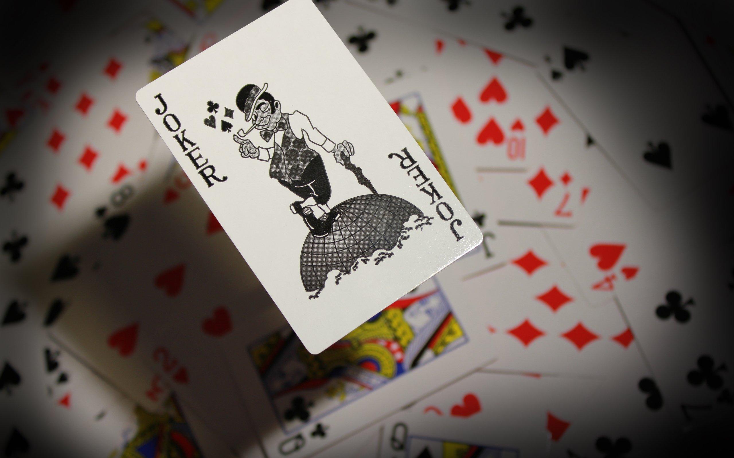 Joker playing card wallpaper 2560x1600 6991 WallpaperUP 2560x1600