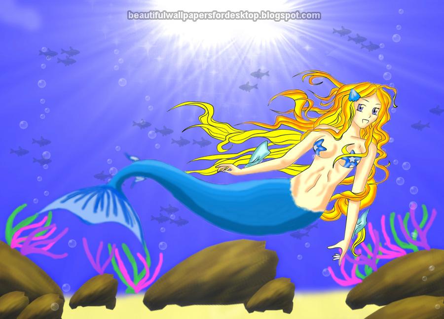 beautiful mermaid wallpaper wallpapersafari