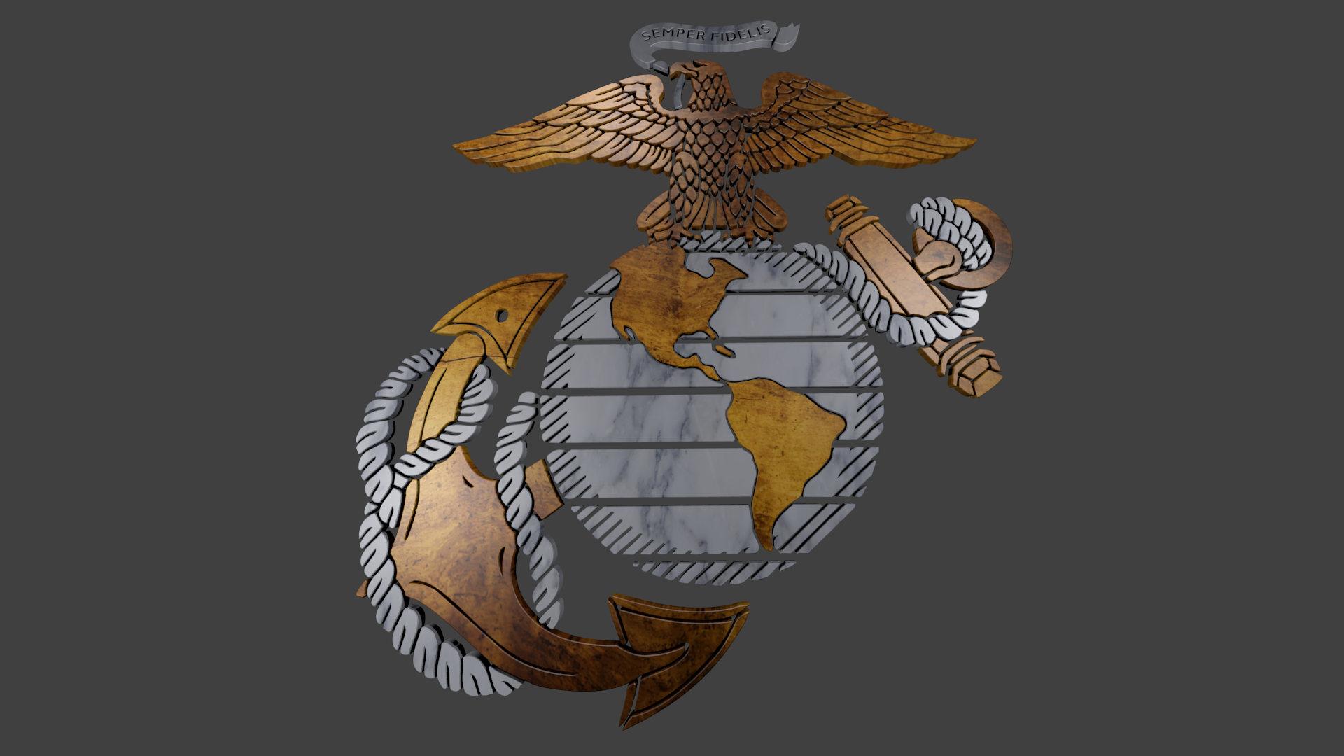 USMC Logo Wallpaper 1920x1080
