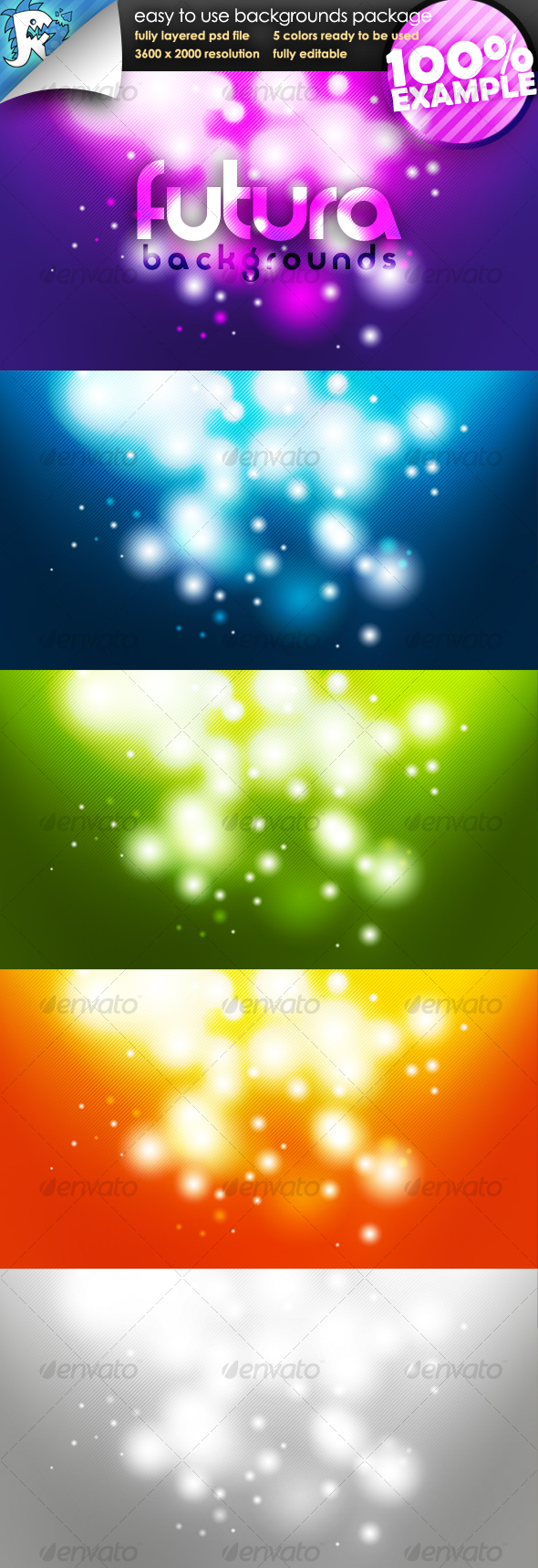 Futura Glow   Easy to use Backgrounds   Backgrounds Graphics 590x1718