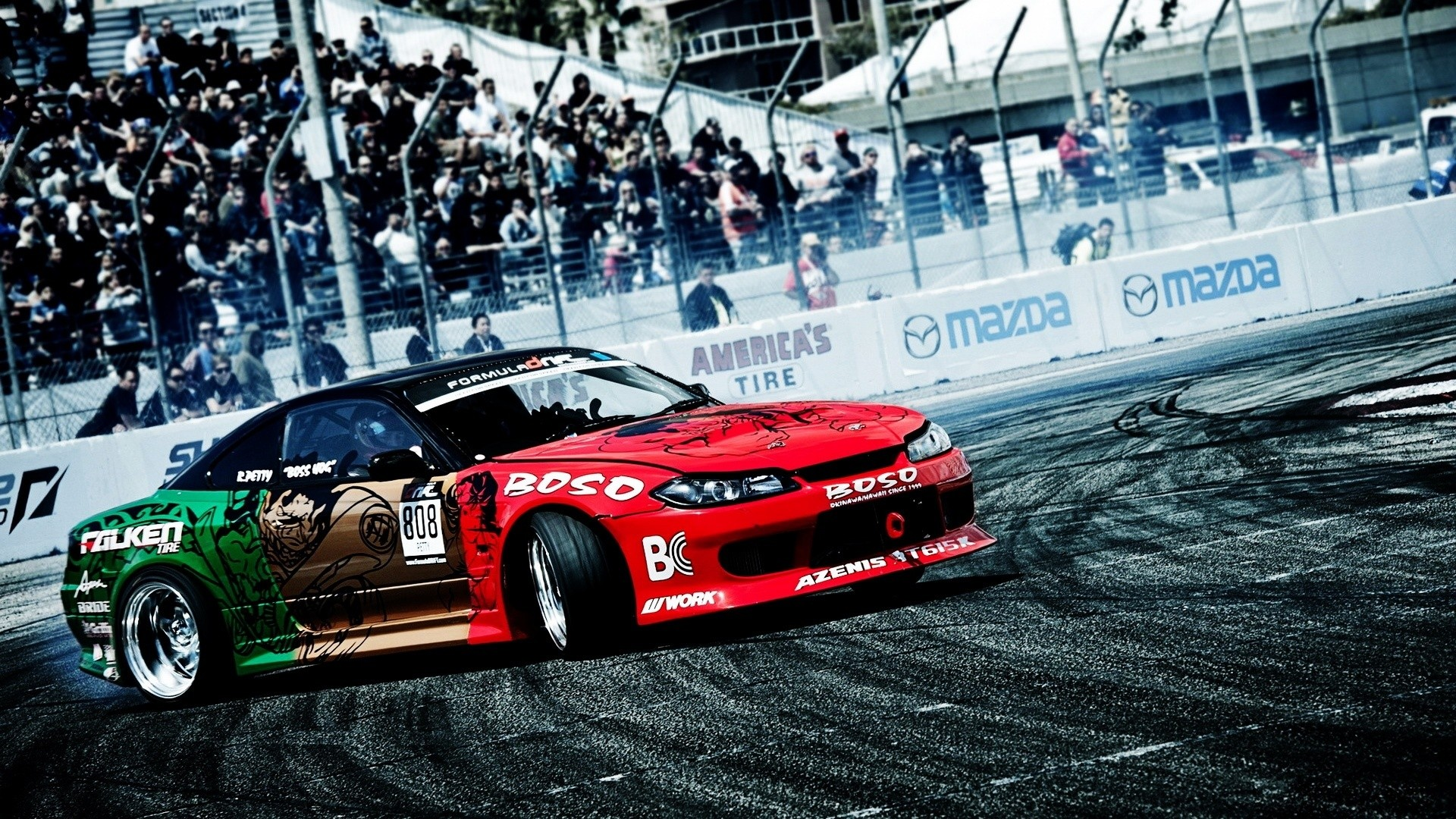 Cars Drift Wallpaper 1920x1080 Cars, Drift, Nissan, Silvia, Drifting