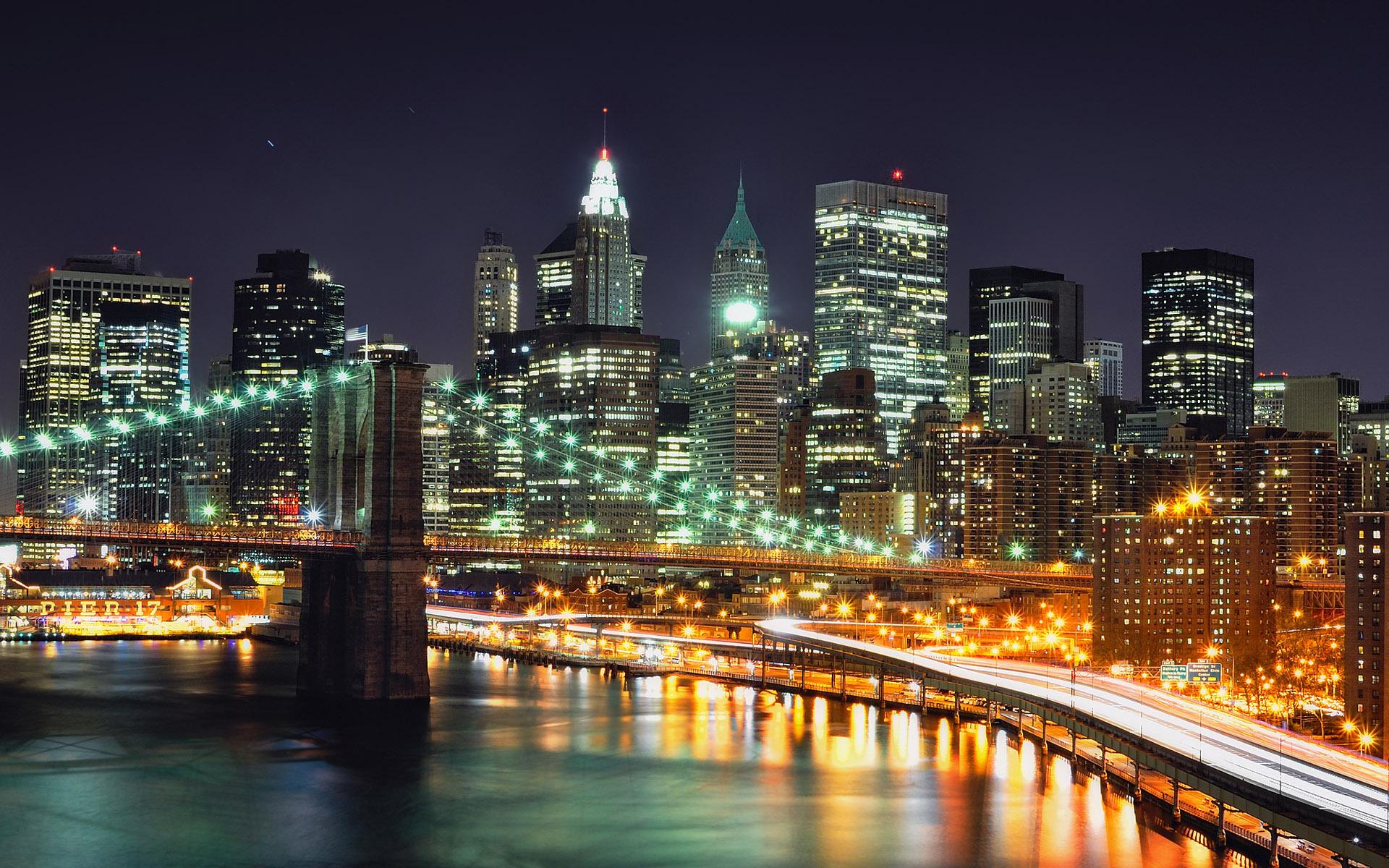 New York at night wallpaper 17337 1920x1200