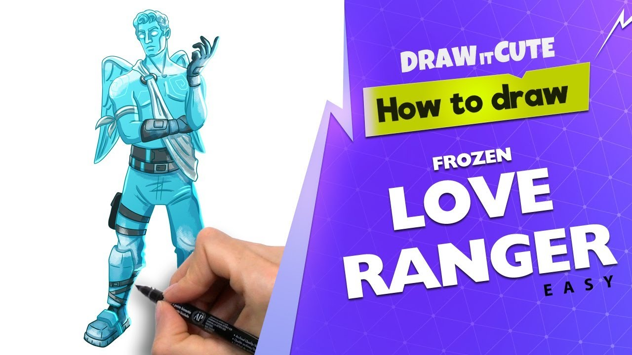 How to draw Frozen Love Ranger easy Fortnite Season 7 drawing 1280x720