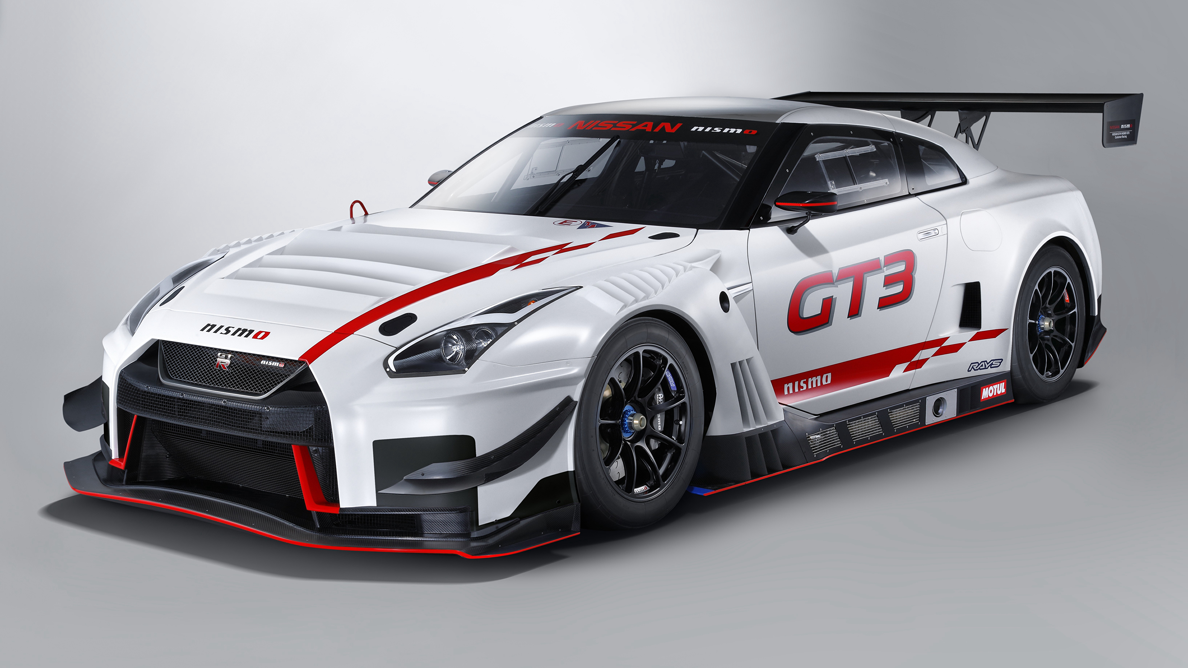 Desktop Wallpapers Tuning Nissan 2018 Nismo GT R GT3 White 3840x2160 3840x2160