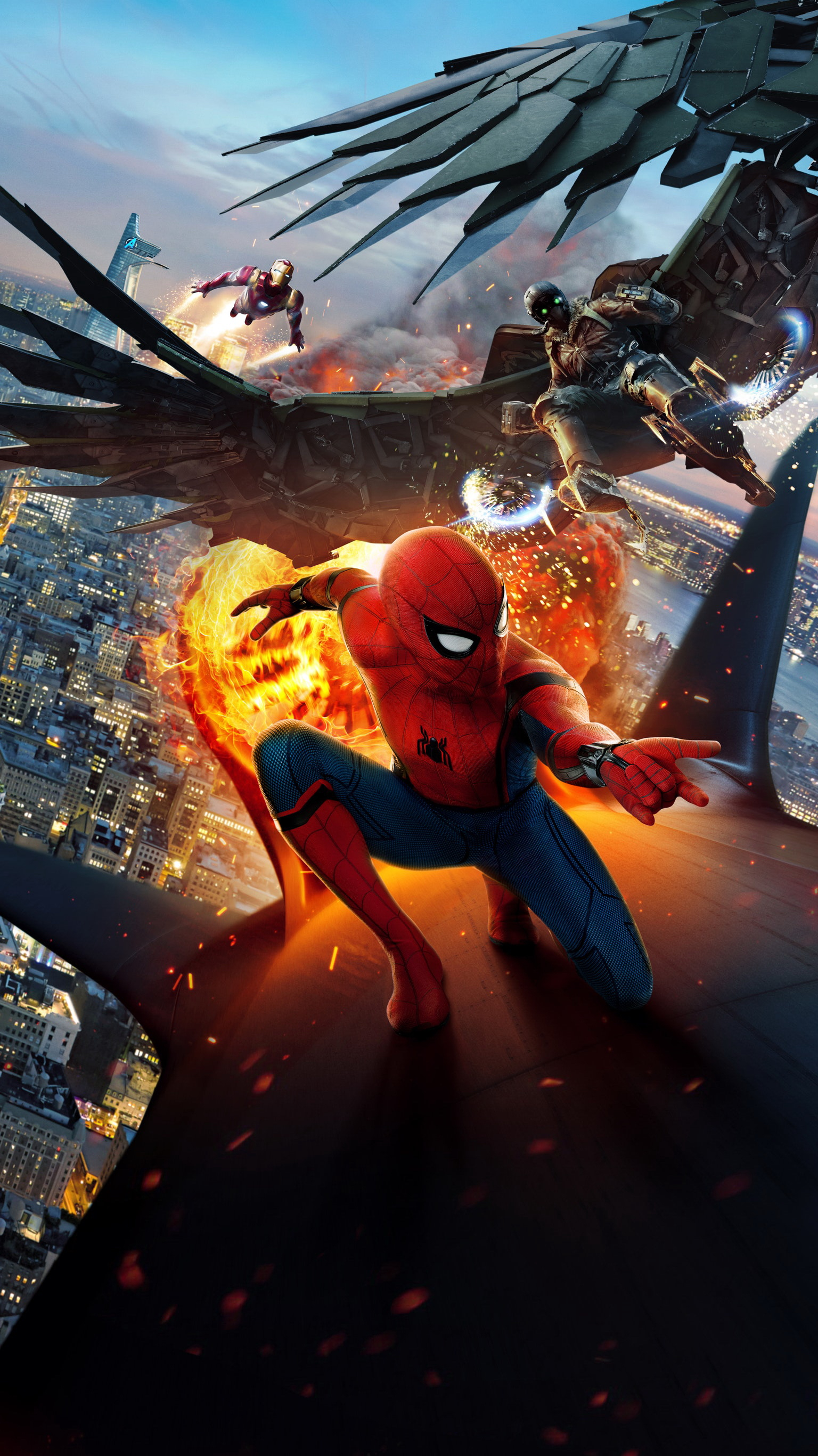 Wallpaper Spider Man Homecoming Heroes comics Spiderman hero Movies 1536x2733