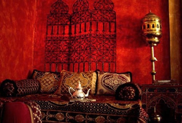 55 Charming Morocco Style Patio Designs 66 Mysterious Moroccan Bedroom 640x431