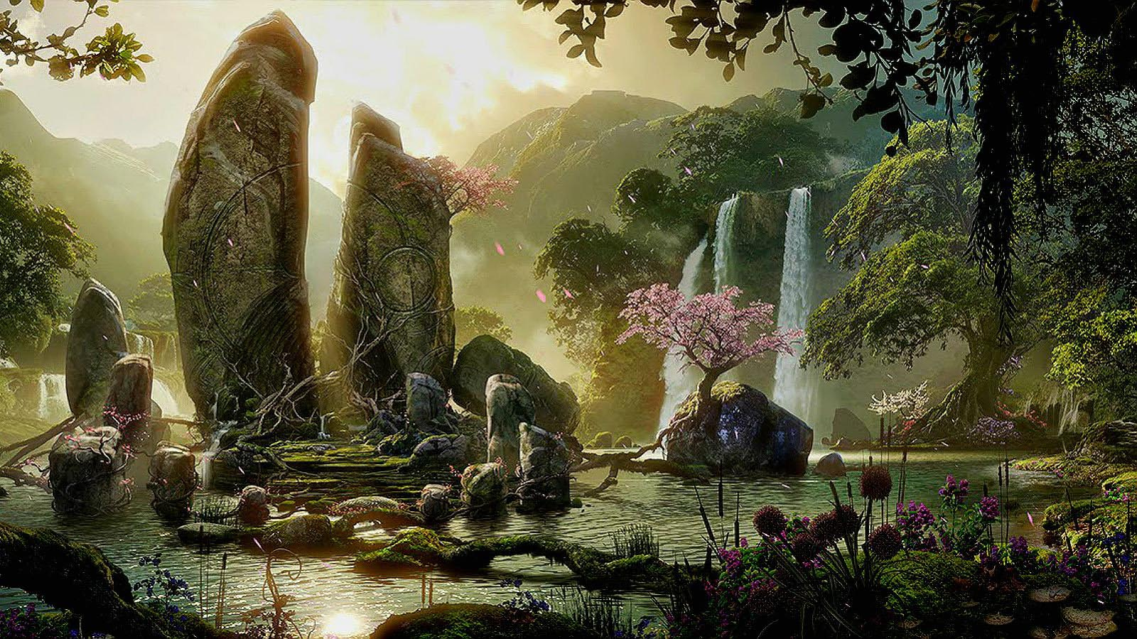 69 Enchanted Forest Backgrounds On Wallpapersafari